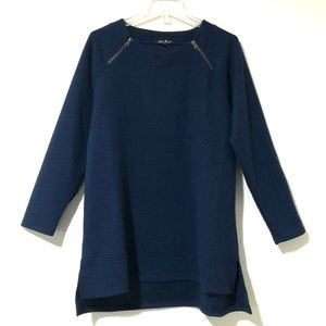 Anne French Super Soft Navy Tunic Sweater